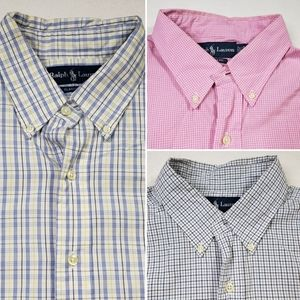 Polo Ralph Lauren Lot of 3 Mens 16.5 button downs